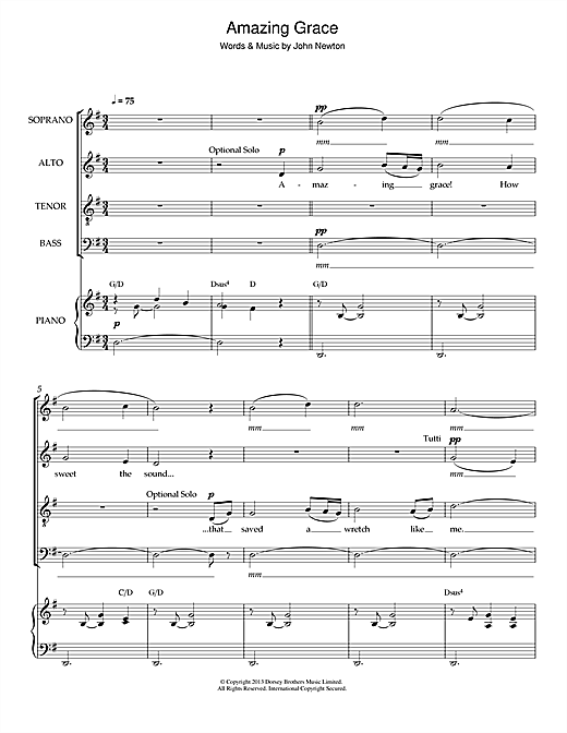 pdf amazing grace satb arrangement
