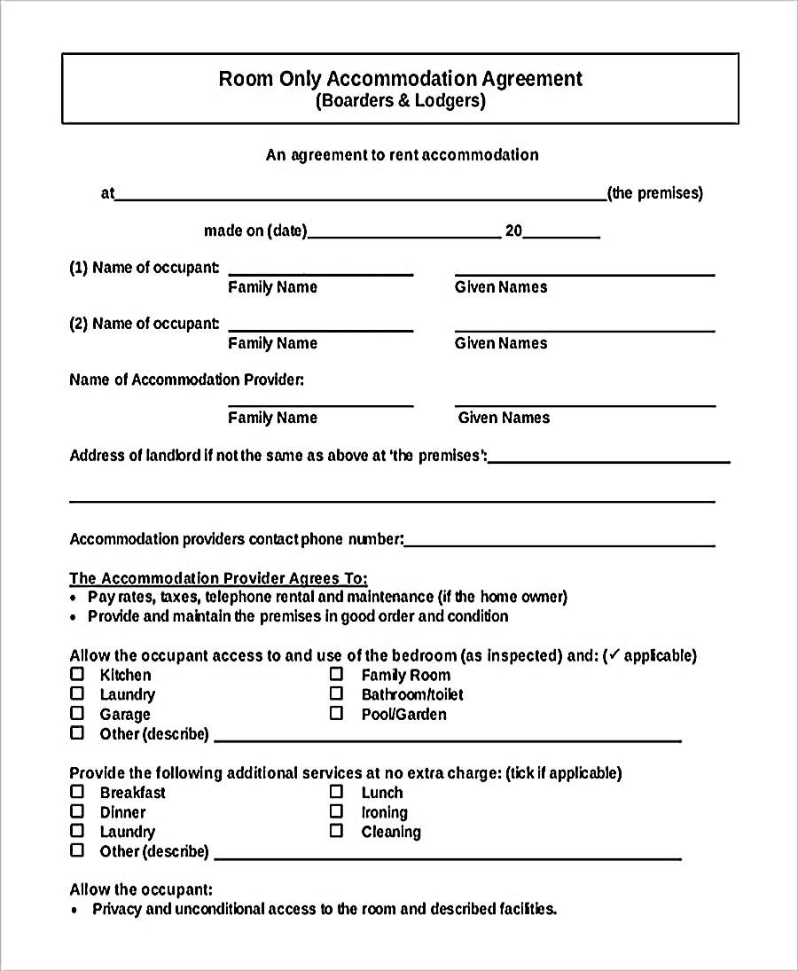 rental lease agreement form pdf