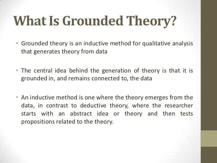what is grounded theory pdf