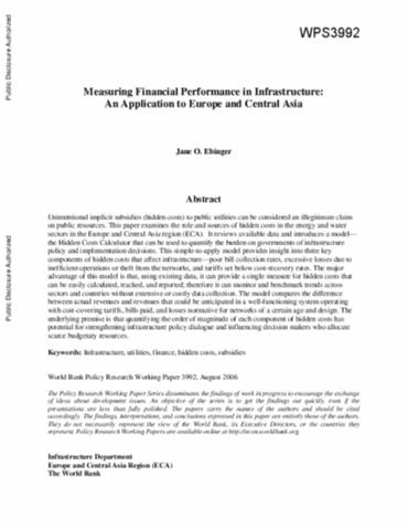public infrastructure finance research papers using probit model pdf