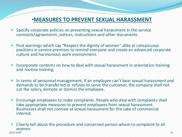 service in terms of the harassment act