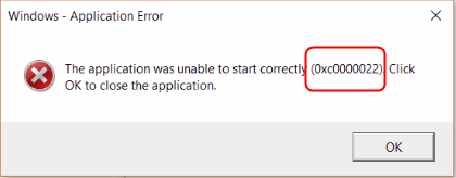 the application was unable to start correctly 0xc0000022 steam