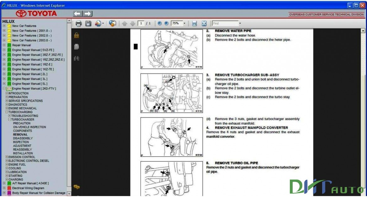 toyota hilux service manual download free