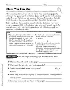 sample of examine word entry in dictionary