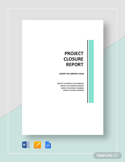 project closure report example pdf