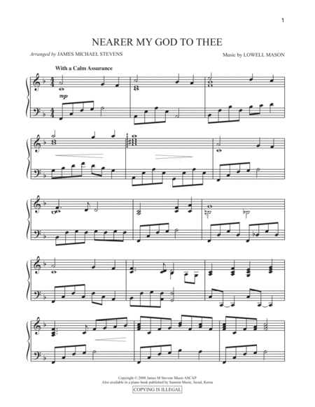 neare my god to thee sheet music pdf