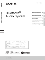 sony lmv-2960 car system instruction manual pdf