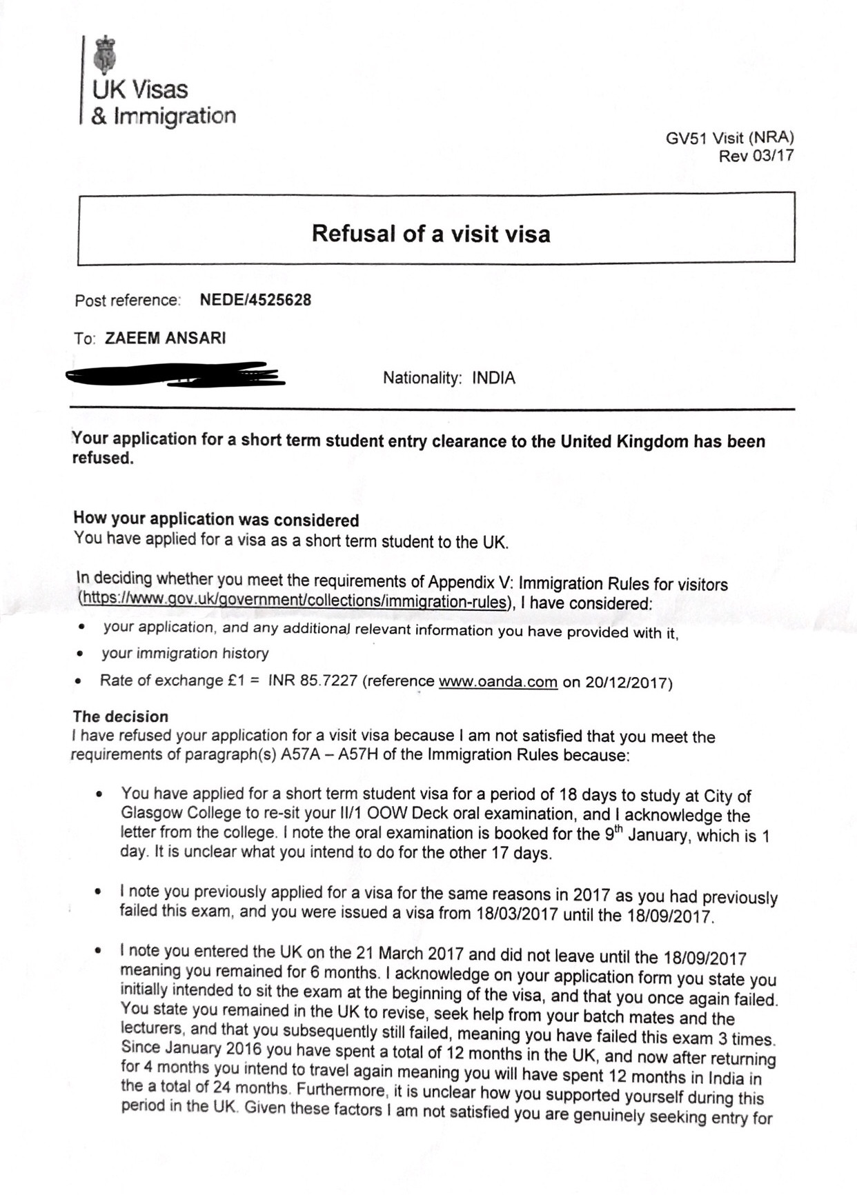 questions for uk visa application