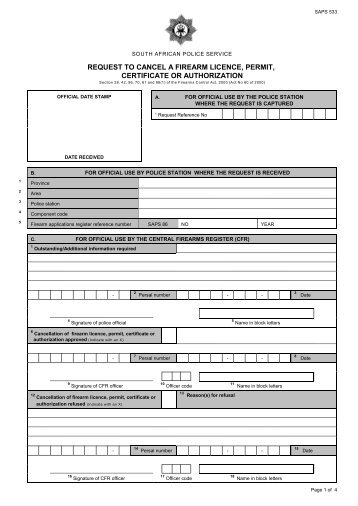 saps application for competency certificate