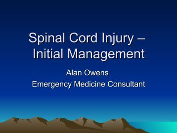 spinal cord injury management guidelines