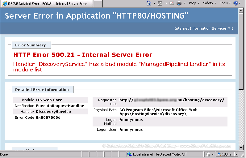 to run this application net framework v4.30319 error server 2016